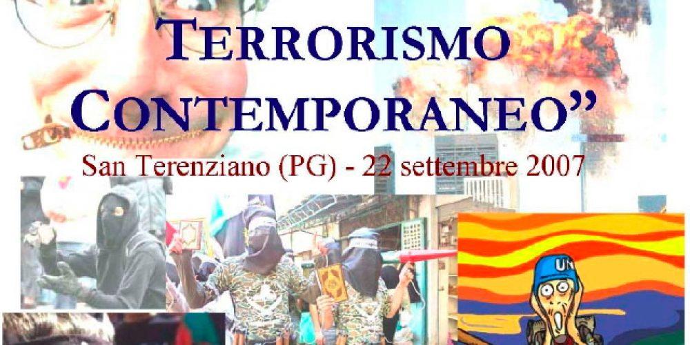 """Convegno """"Introduzione al terrorismo contemporaneo"""", 22 settembre 2007"""