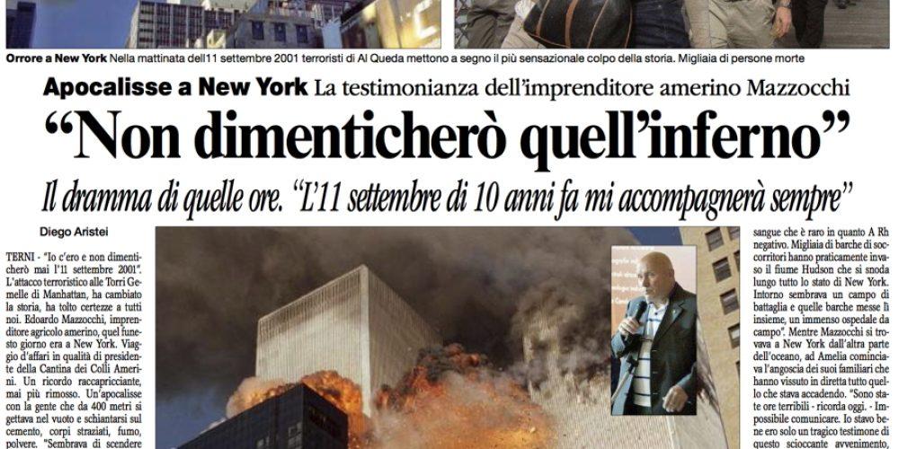 Edoardo Mazzocchi ricorda l'11 settembre 2001