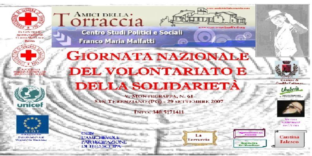 Giornata nazionale del volontariato e della solidarietà, 29 settembre 2007