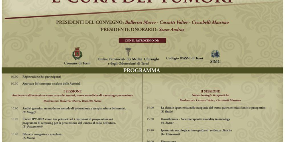 Convegno: Nuove frontiere in tema di prevenzione e cura dei tumori